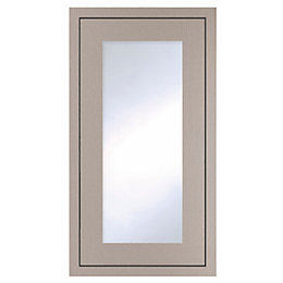 Cooke & Lewis Carisbrooke Taupe Framed Tall Glazed