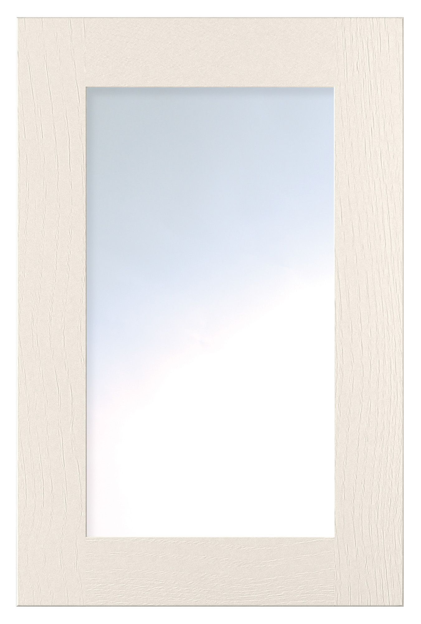 Cooke & Lewis Carisbrooke Ivory Framed Glazed Door (w)500mm