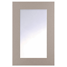 Cooke & Lewis Carisbrooke Taupe Framed Glazed Door