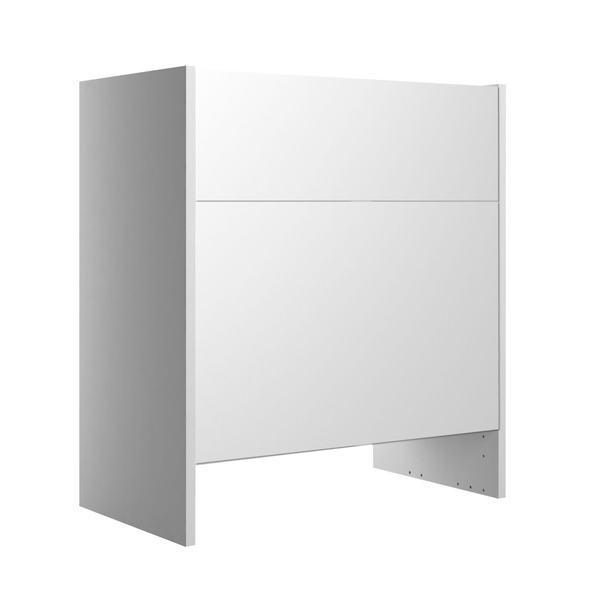 Cooke & Lewis Marletti Gloss White Toilet Unit, (w)600mm