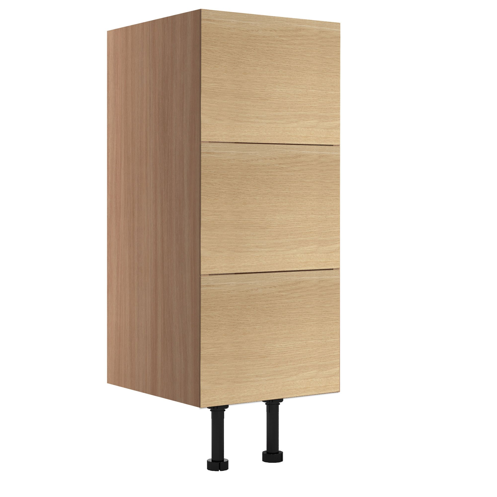 Cooke & Lewis Antero Oak Effect Narrow Base Cabinet, (w)300mm
