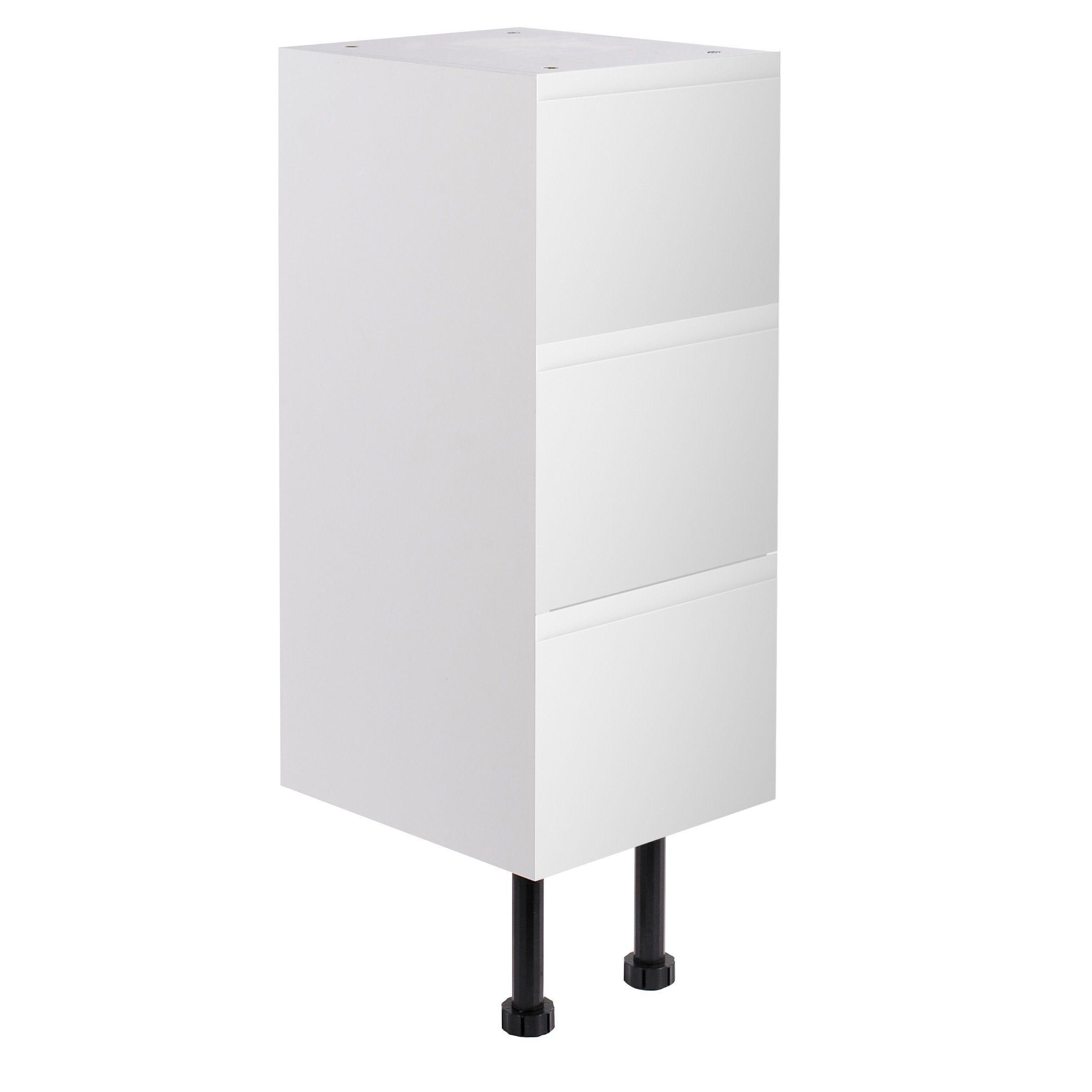 cooke lewis marletti gloss stone narrow base cabinet