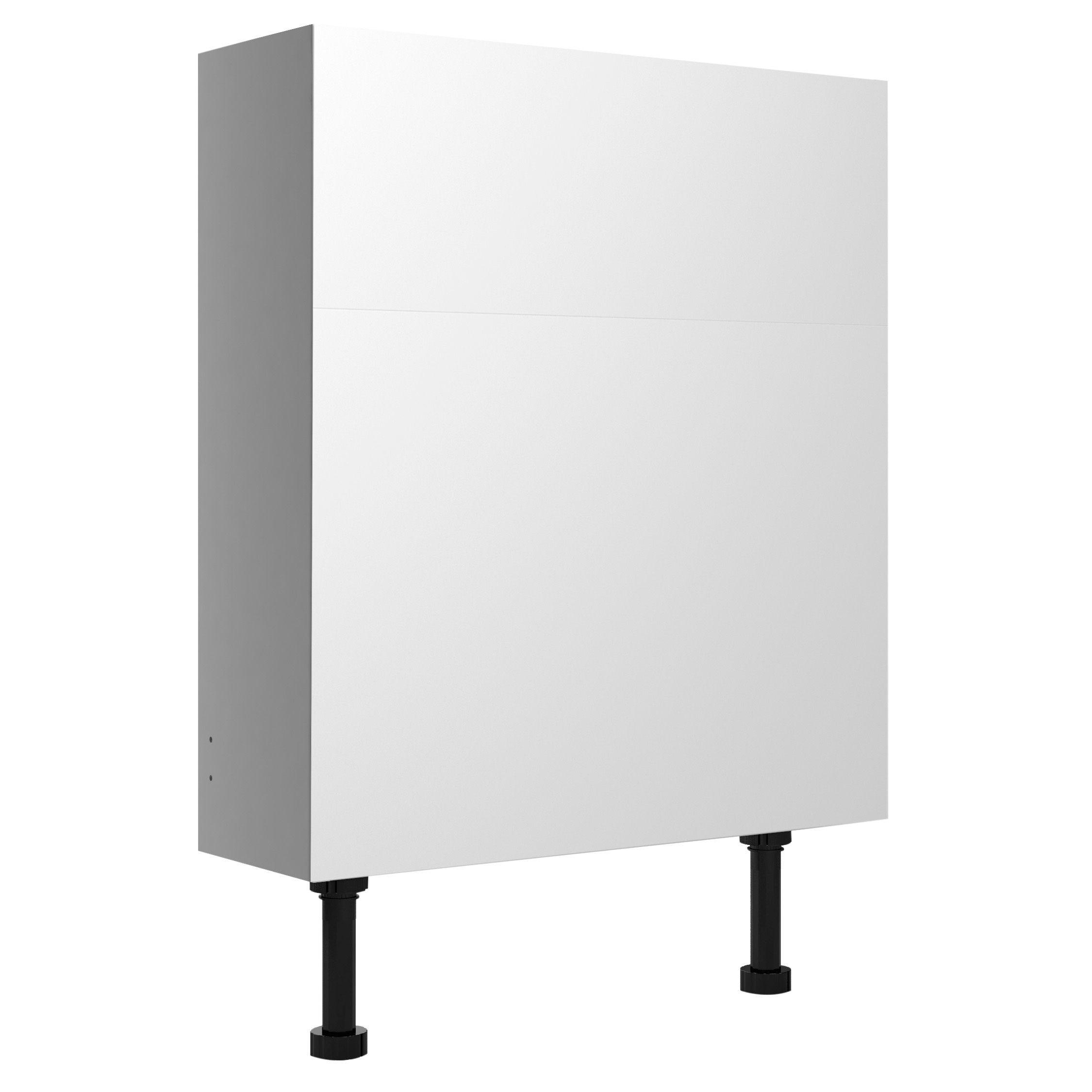 Cooke & Lewis Marletti Gloss White Slimline Toilet Unit, (w)600mm