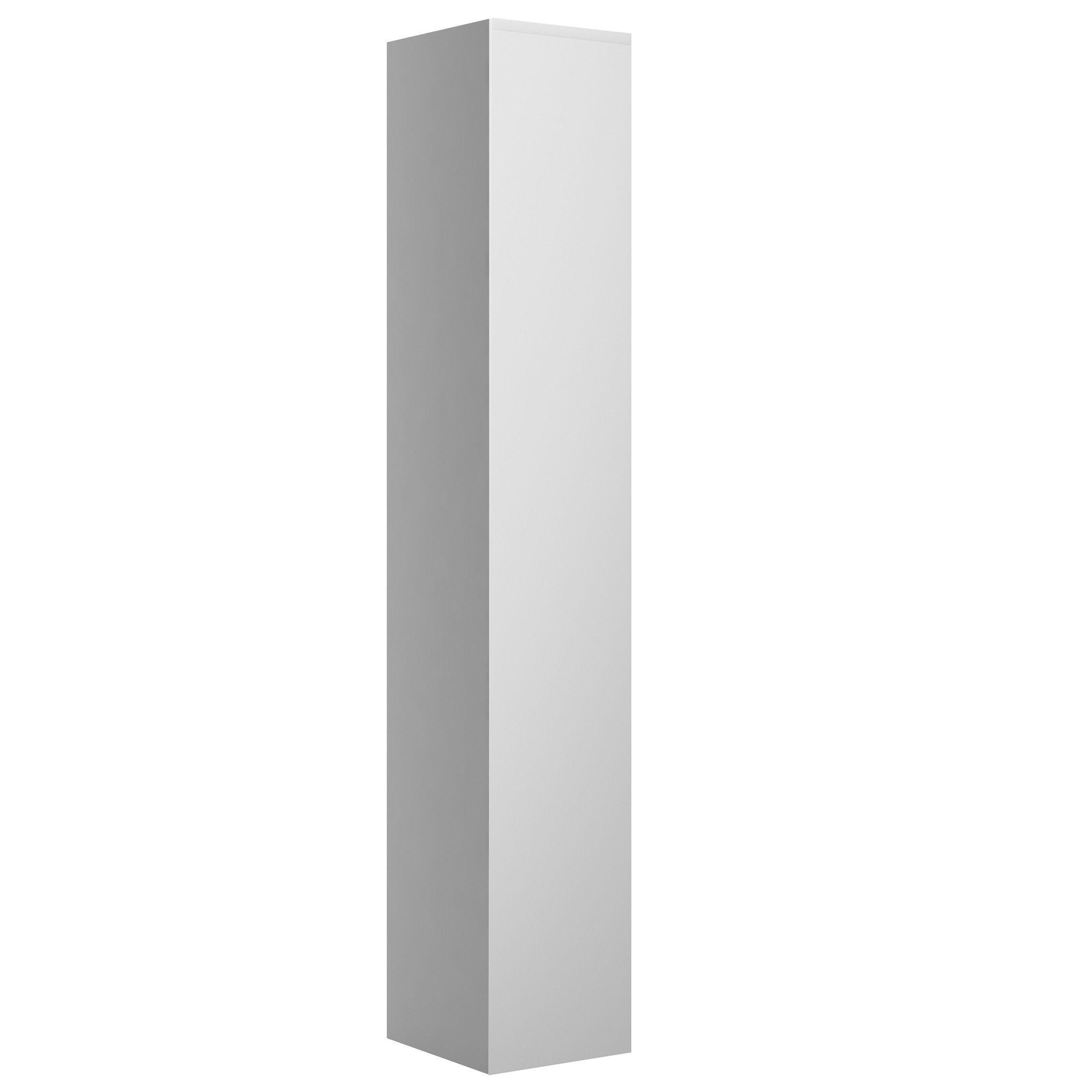 Cooke & Lewis Marletti Gloss Stone 1 Door Tall Unit, (w)300mm