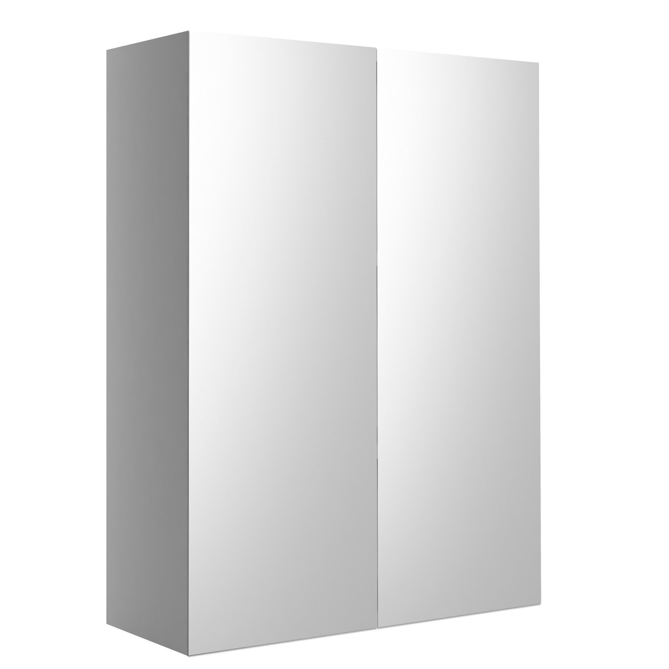 cooke lewis sorella white mirrored wall cabinet