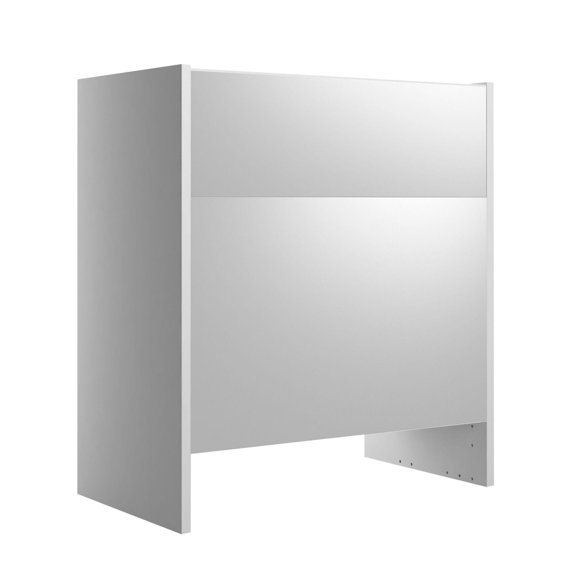 Cooke & Lewis Santini Gloss White Standard Toilet Unit, (w)600mm