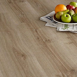 Colours Natural Oak Effect Luxury Vinyl Click Flooring,