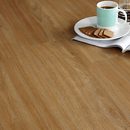 Colours Brown Warm Oak Effect Luxury Vinyl Click
