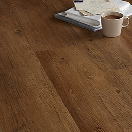 Colours Brown English Pine Effect Luxury Vinyl Click
