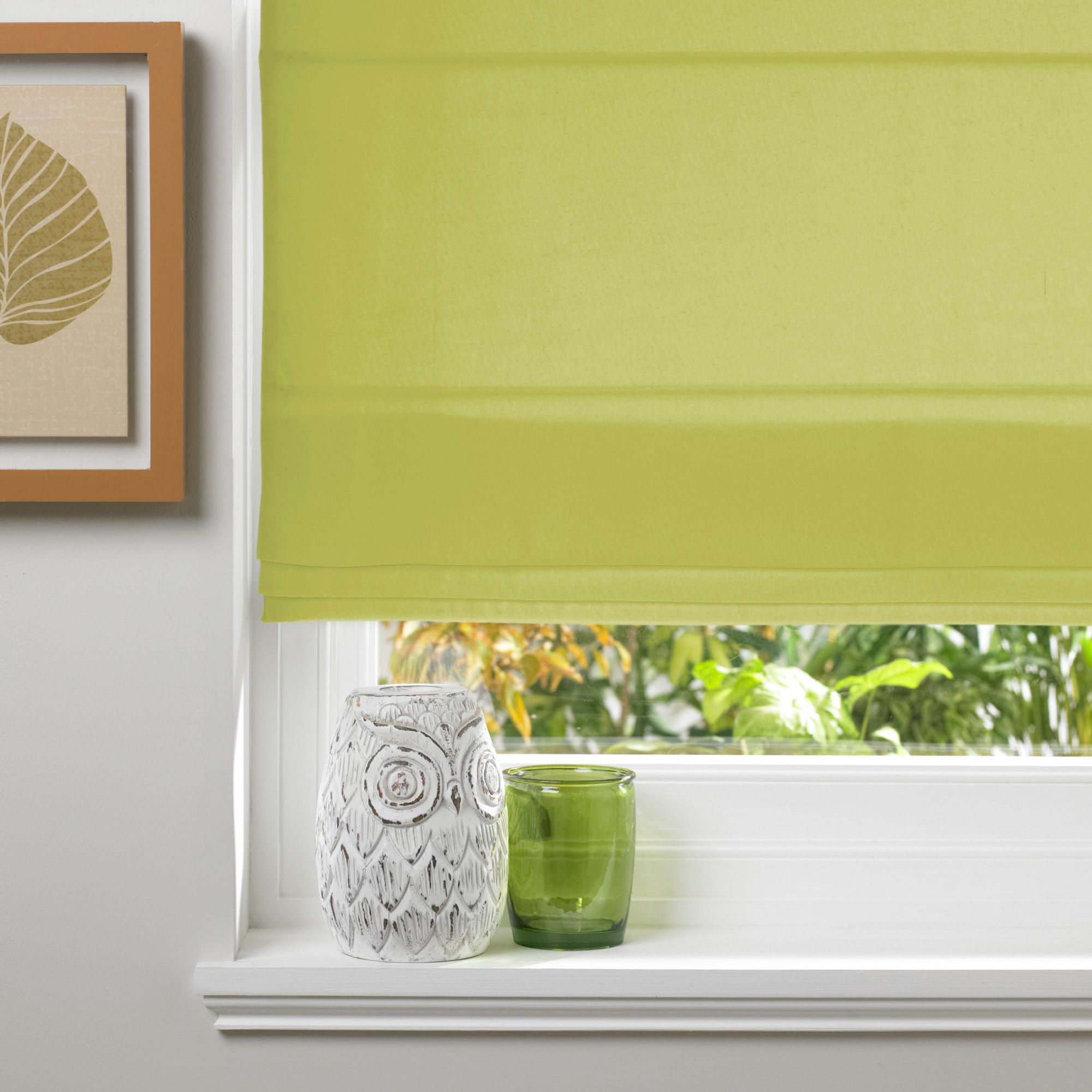 Colours Malle Corded Lime Blossom Roman Blind (L)160cm