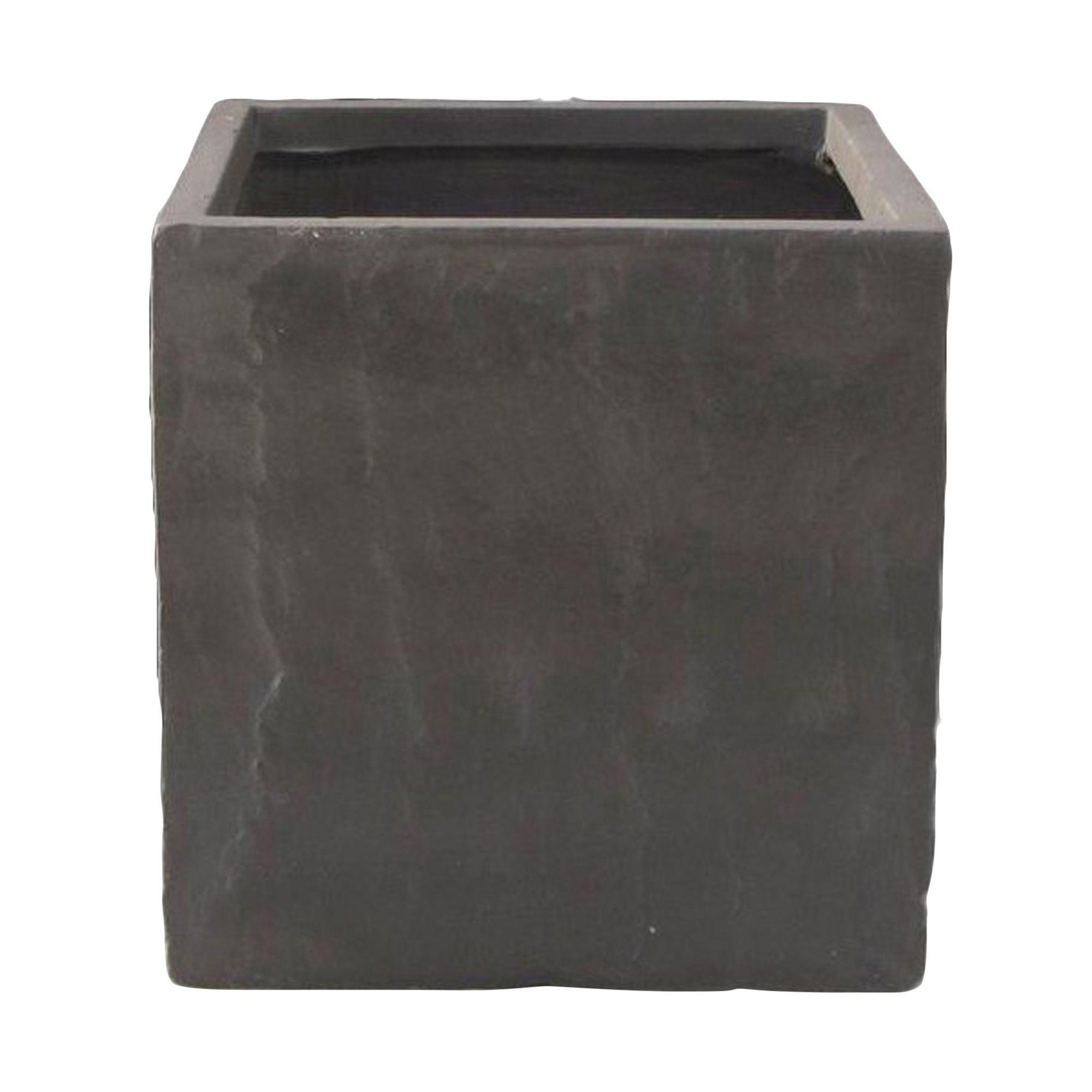 leven square grey planter (h)cm (l)cm  departments  diy at bq -