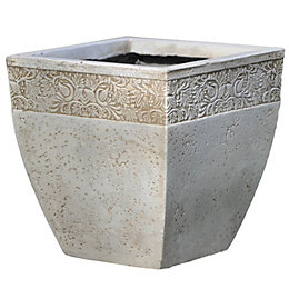 Ash Square Grey Planter (H)42.5cm (L)45cm