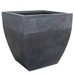 Ash Square Grey Planter (H)31cm (L)30cm