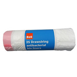 B&Q Drawstring Bin Liner 30L, Pack of 25