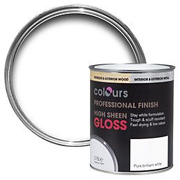 Colours Interior Pure Brilliant White Gloss Wood &