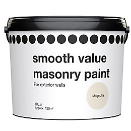 Value Magnolia Cream Matt Masonry Paint 10L