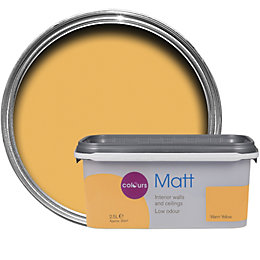 Colours Warm Yellow Matt Emulsion Paint 2.5L