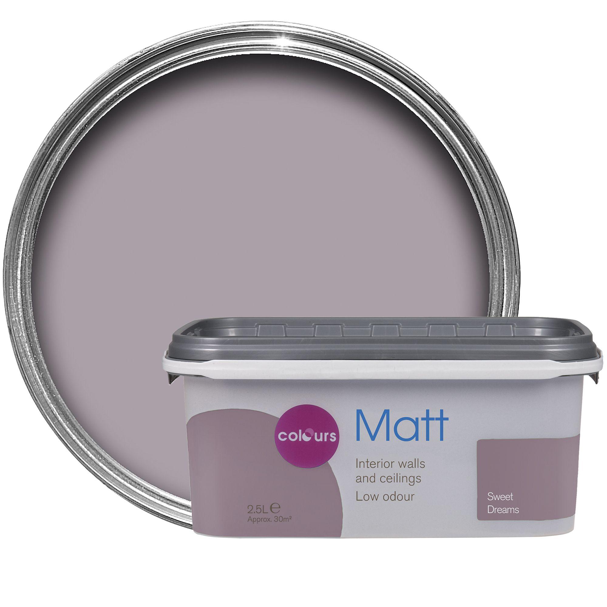 Colours Sweet Dreams <b>Matt</b> Emulsion Paint 2.5L ...