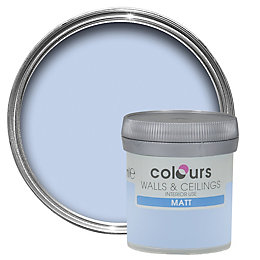 Colours China Blue Matt Emulsion Paint 50ml Tester