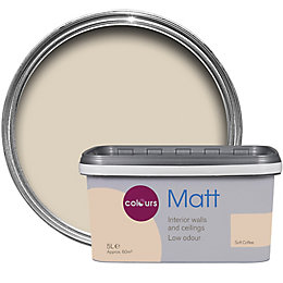 Colours Soft Coffee Matt Emulsion Paint 5L