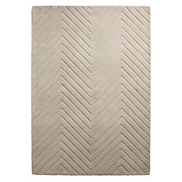 Colours Aima Beige Carved Herringbone Rug (L)1.7m (W)1.2m