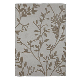 Colours Mirchi Brown & Grey Trailing Rug (L)1.7m