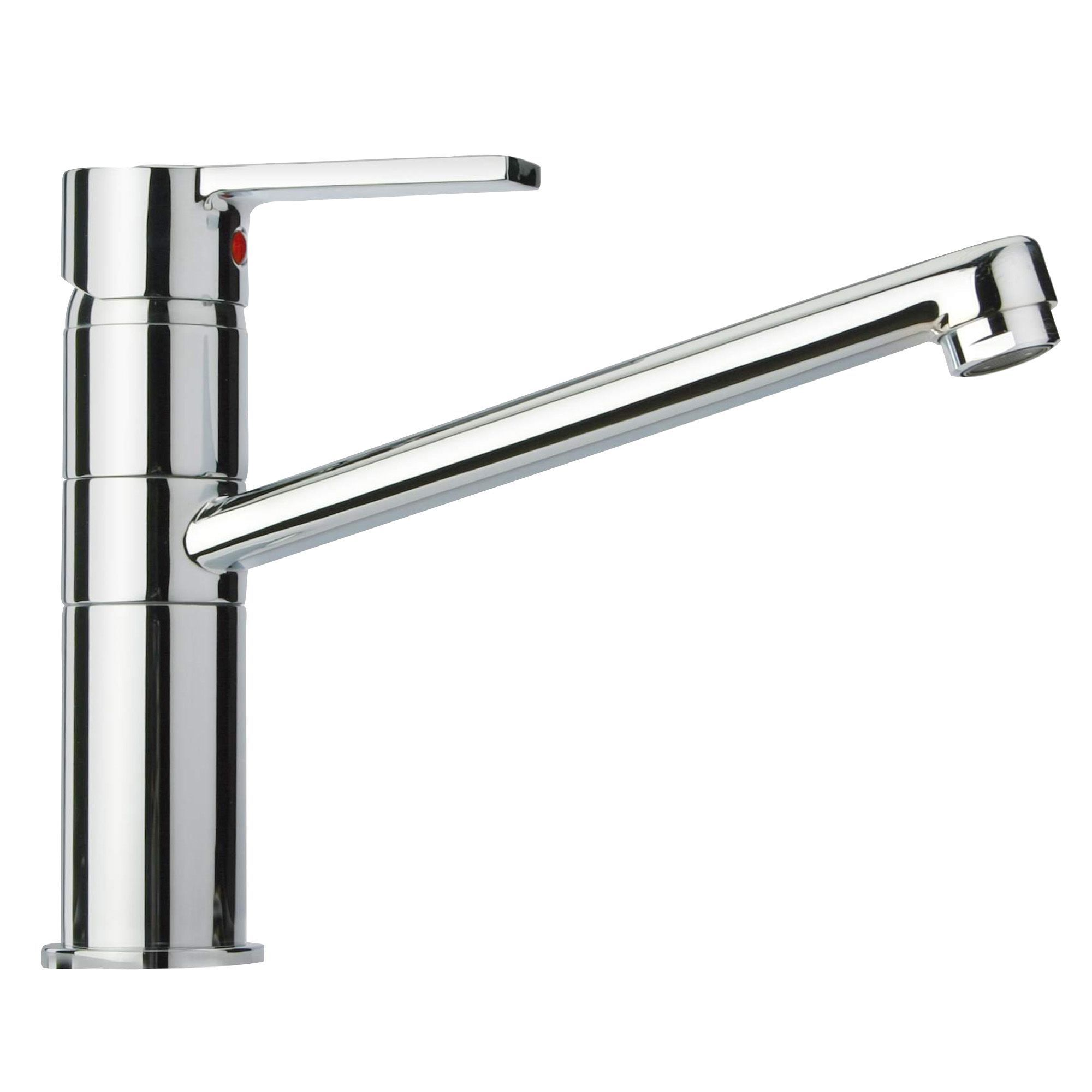 Modern Chrome Effect Lever Tap Departments Diy At B Amp Q