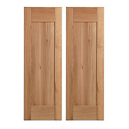 Cooke & Lewis Solid Oak Tall Corner Wall