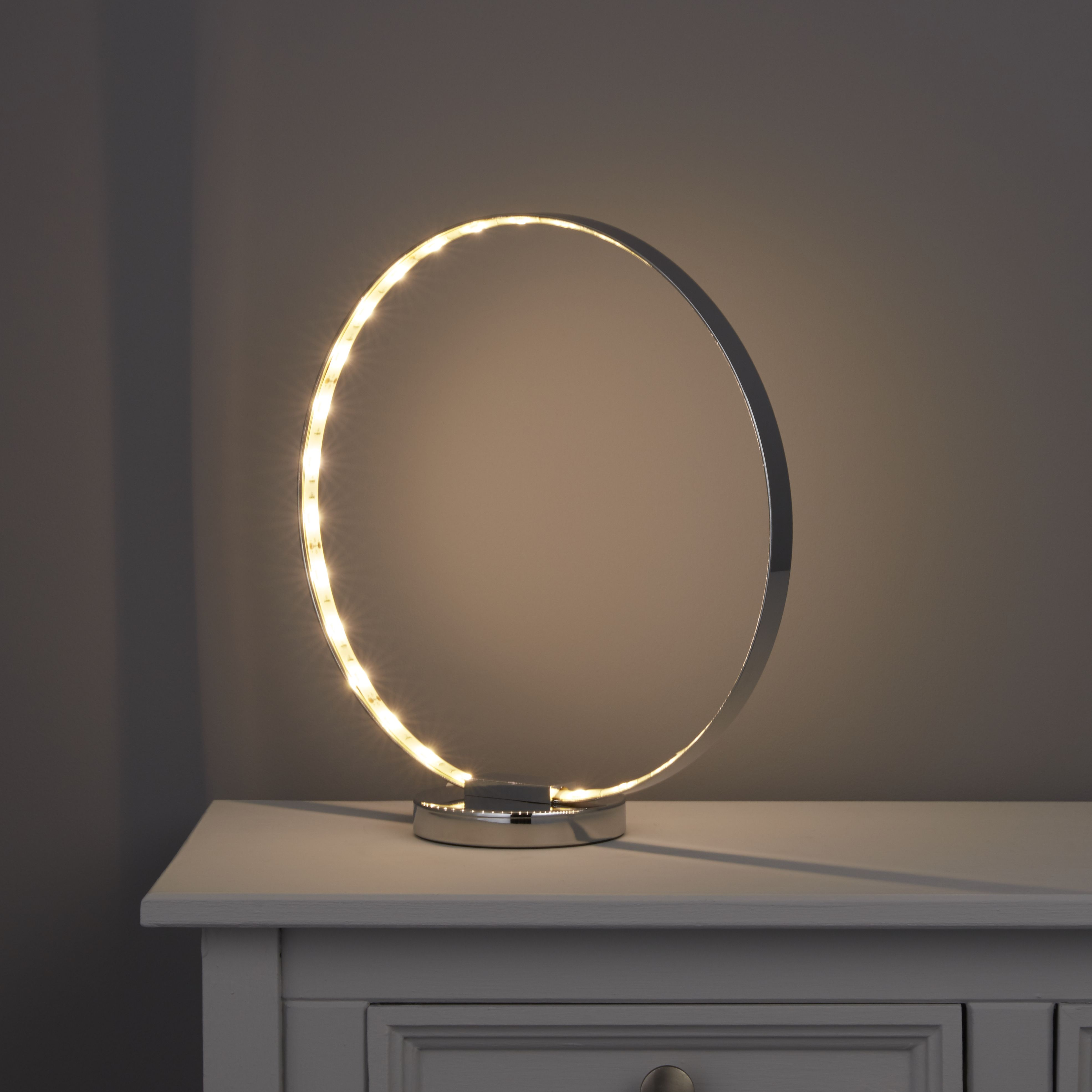 Ringo Modern Chrome Effect Table Lamp