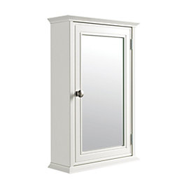 Cooke & Lewis Romano Single Door White Mirror