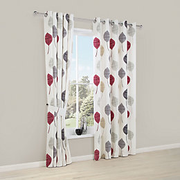 Dario Beige, Grey, Red & White Floral Printed