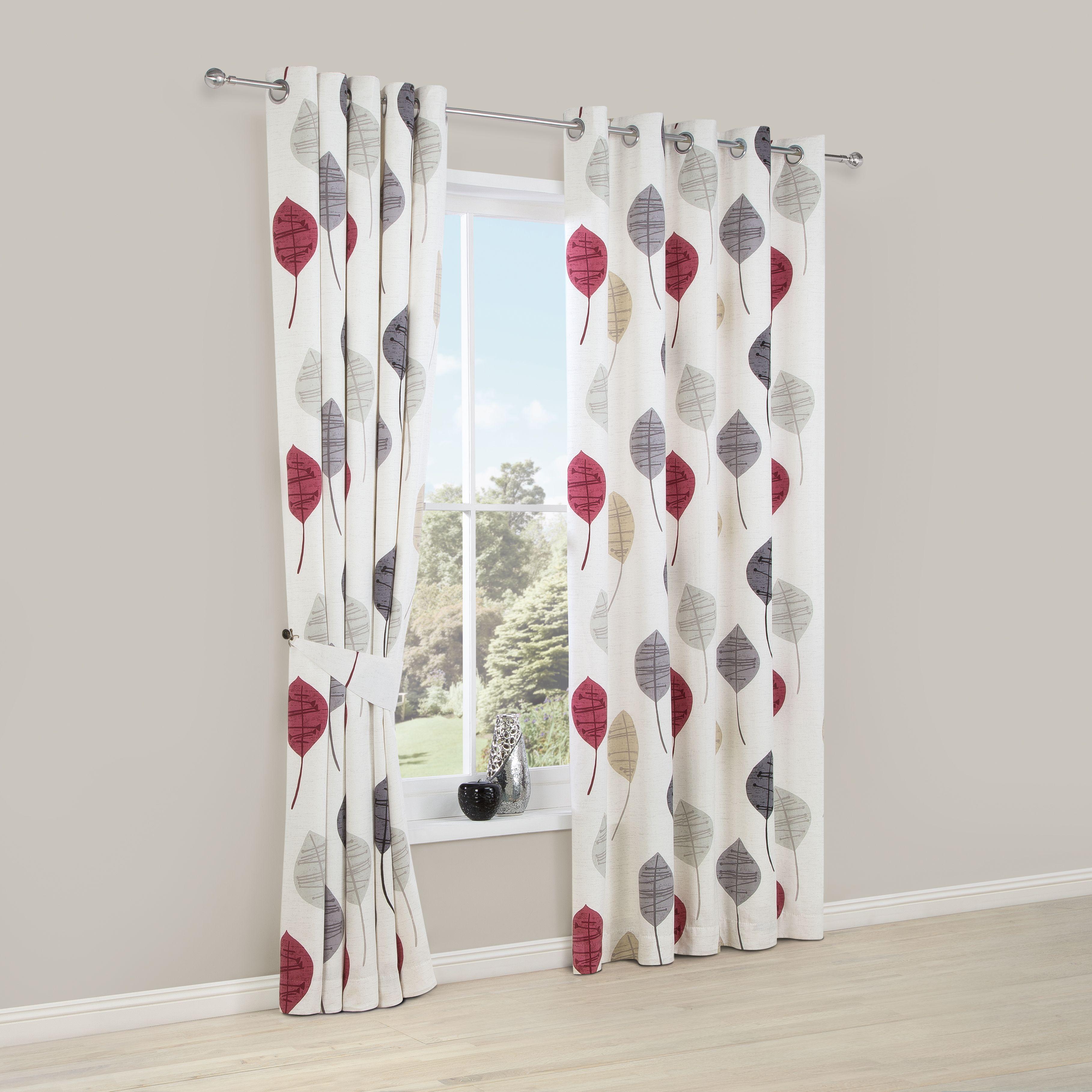 High Quality Dario Beige, Grey, Red U0026 White Floral Printed Eyelet Lined Curtains (W)167  Cm (L)228 Cm | Departments | DIY At Bu0026Q