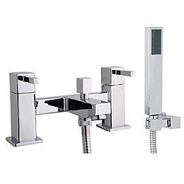 Cooke & Lewis Meribel Chrome Bath Shower Mixer