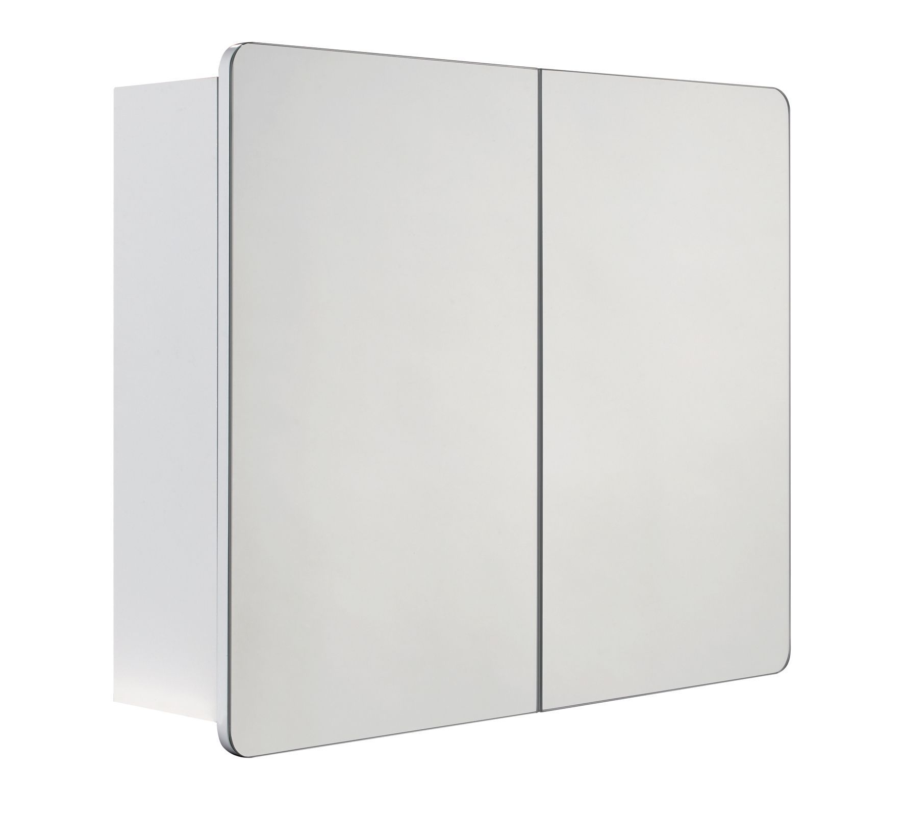 Cooke & Lewis Lesina Double Door White Mirror Cabinet