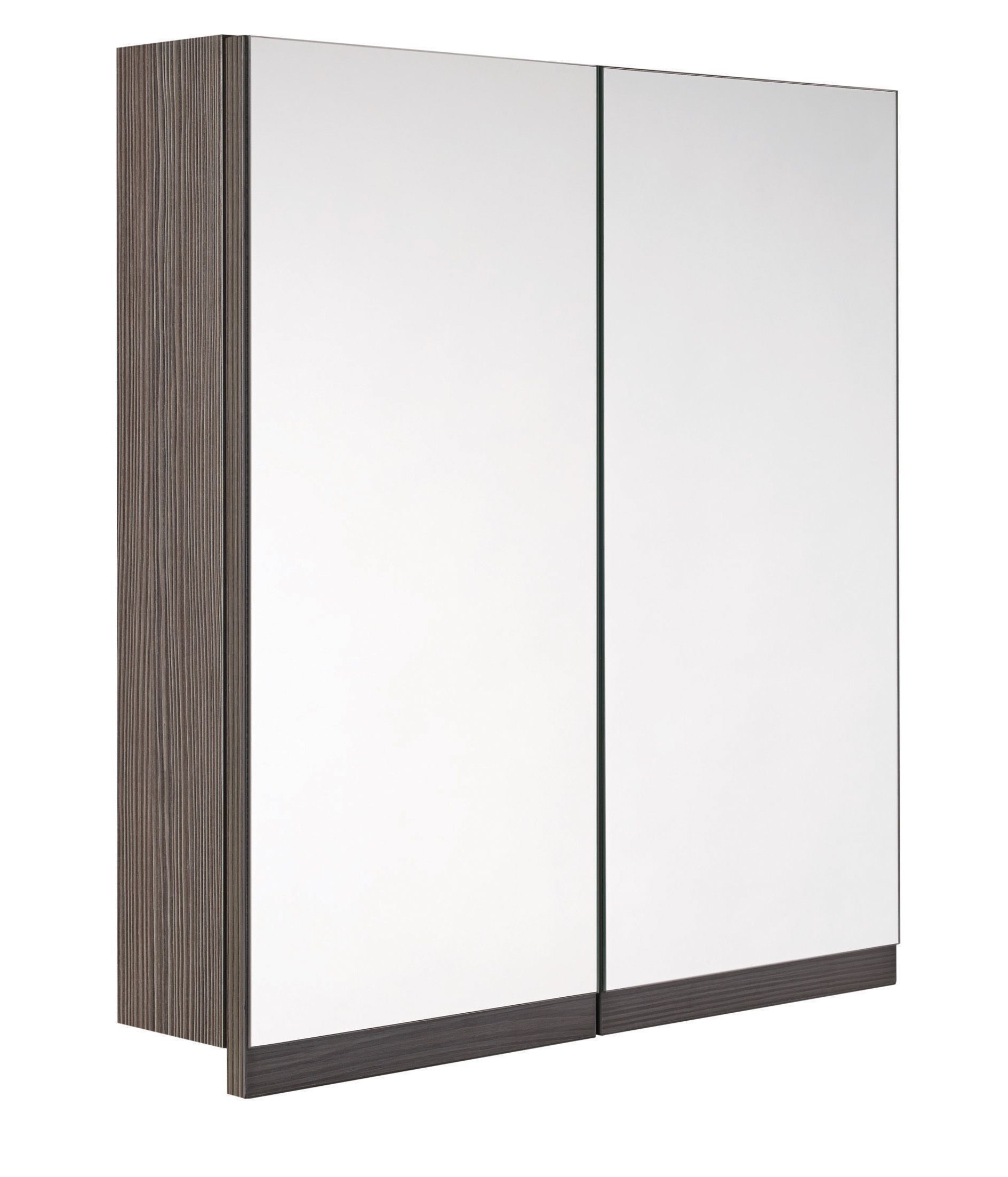 Cooke Lewis Ardesio Double Door Bodega Grey Mirror Cabinet