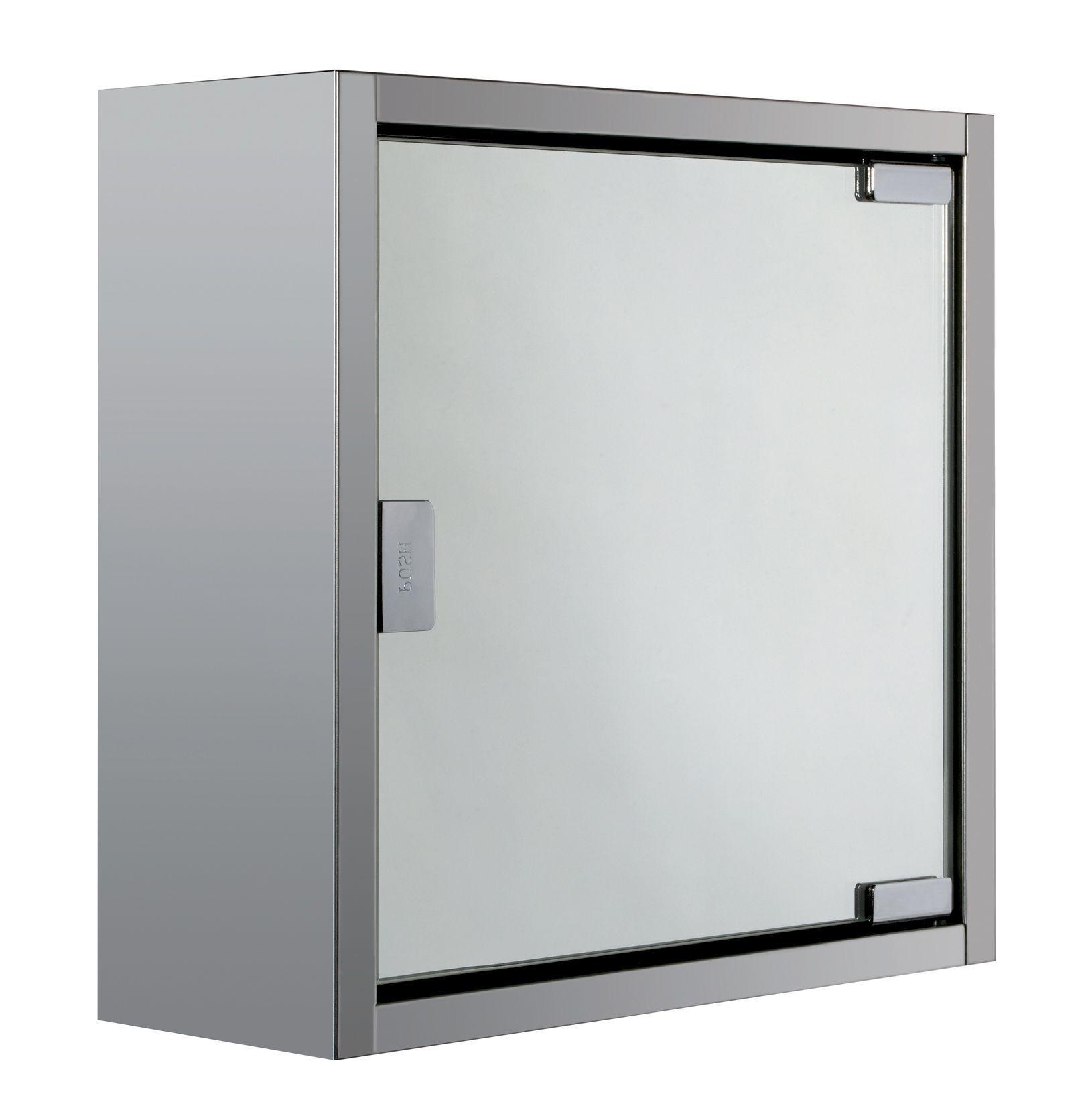 Kirbirt Single Door Silver Mirror Cabinet
