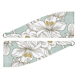 Colours Rowena Duck Egg Floral Print Curtain Tie