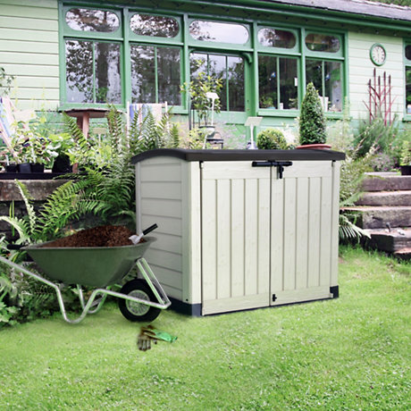 plastic storage in garden