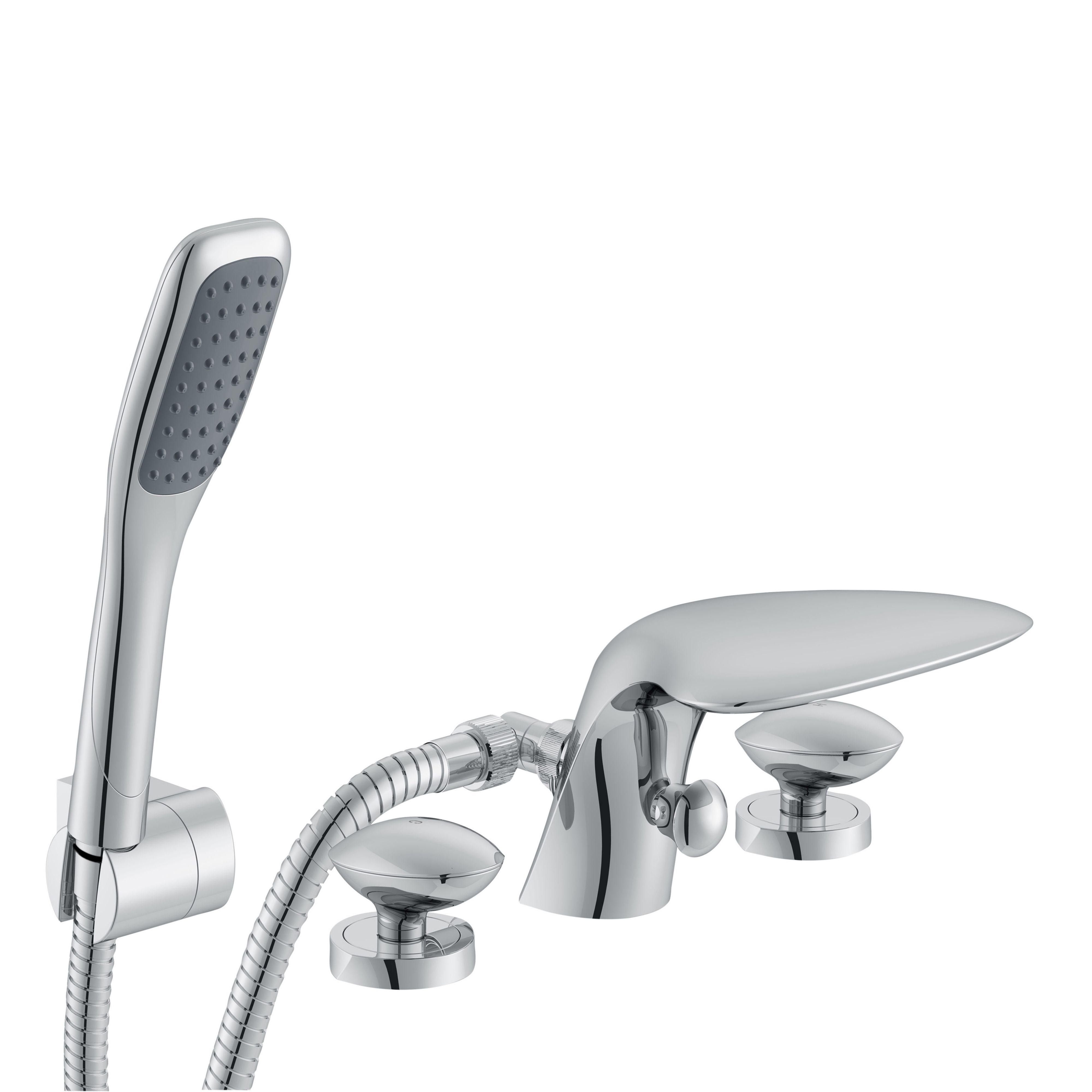 cooke lewis pebble chrome bath shower mixer tap departments cooke lewis pebble chrome bath shower mixer tap departments diy at b q
