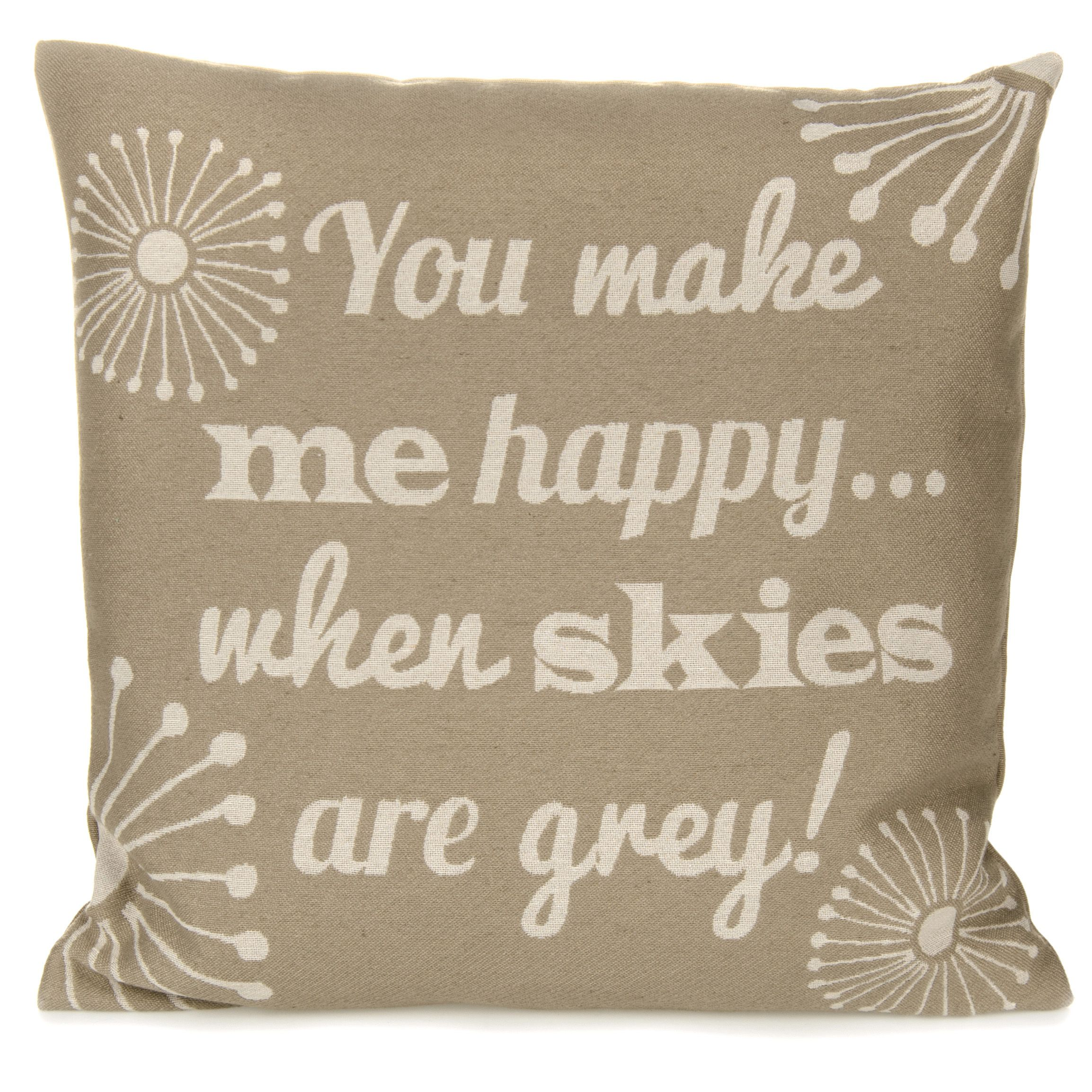 Skiea Wording Cream Cushion : Departments : DIY at Bu0026Q