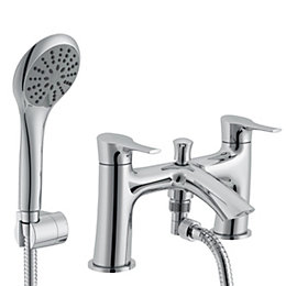 Cooke & Lewis Oceanspray Chrome Bath Shower Mixer