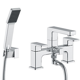 Cooke & Lewis Lincoln Chrome Bath Shower Mixer