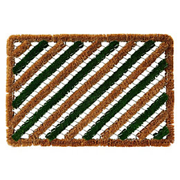 Colours Green & Natural Coir Door Mat (L)600mm