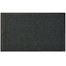Diall Dark Grey Recycled Material Door Mat (L)0.75m