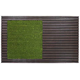Colours Green Coir & Rubber Door Mat (L)0.75m