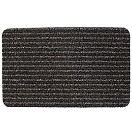 B&Q Black Plastic Door Mat (L)0.6m (W)400mm