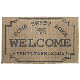 Colours Natural Jute Door Mat (L)0.75m (W)450mm