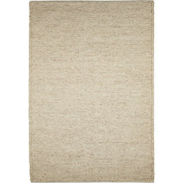 Colours Claudine Beige Thick Knit Rug (L)1.7m (W)1.2m