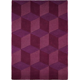 Colours Elyza Purple Rug (L)1.7m (W)1.2m