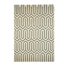 Colours Larissa Cream & Grey Rug (L)1.7m (W)1.2m